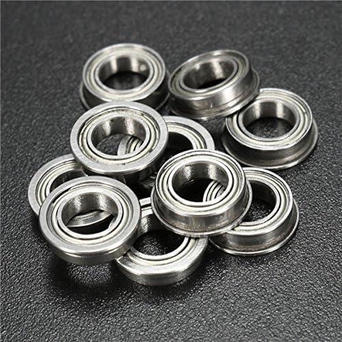 CHIMAKA 10pcs MF106ZZ Roulement /à billes /à bride 6x10x3mm Accessoires pour outillage