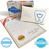 CHERISHED KID Tooth Fairy Pillow Kit for Boys with Pouch...