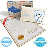 CHERISHED KID Tooth Fairy Pillow Kit for Boys with Pouch and Letter Note – Keepsake Box Makes it a Great Gift Idea for Kids