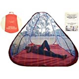 Weavers Villa Mosquito Net Tent Style Foldable Washable 7/7 Feet With Base Cloth Nylon (213.36 X 213.36 cm)