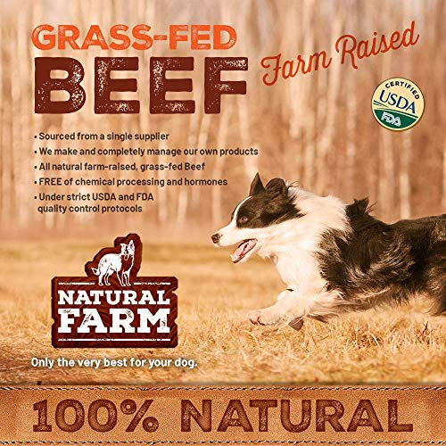 Natural Farm Pet 6-Inch Bully Sticks (25-Pack) All-Natural, Farm-Raised Beef Dog Treats | Odor-Free, Grain-Free | Fully Digestible Chews for Small, Medium, Large Breeds