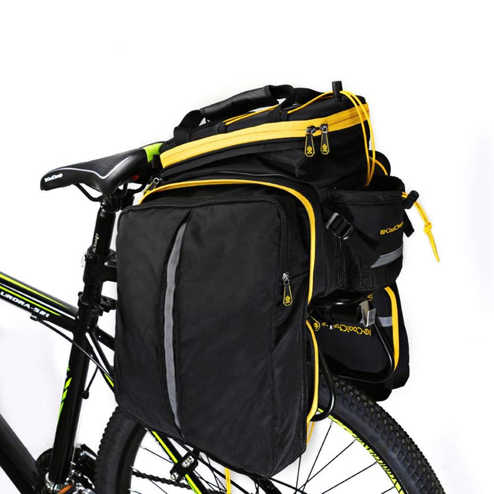 los clientes primero Barato Barato Barato Alforja de bicicleta Alforja de maletero de bicicleta, gran capacidad Alineada de asiento de bicicleta resistente al agua en forma de bicicleta para viaje con cubierta impermeable ( Color : Amarillo )  60% de descuento