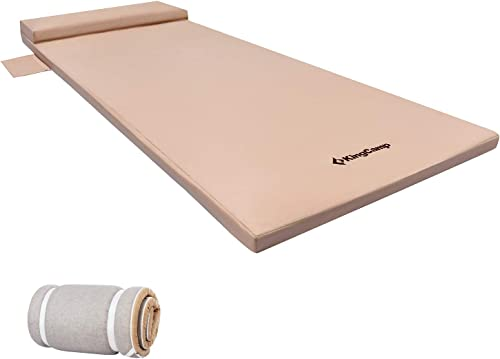 KingCamp Portable Sleeping Pad Memory Foam Camping Mattress. for Camping Pad, Sleepovers, Guest Bed, Outdoor Sleeping Cot, Premium Large