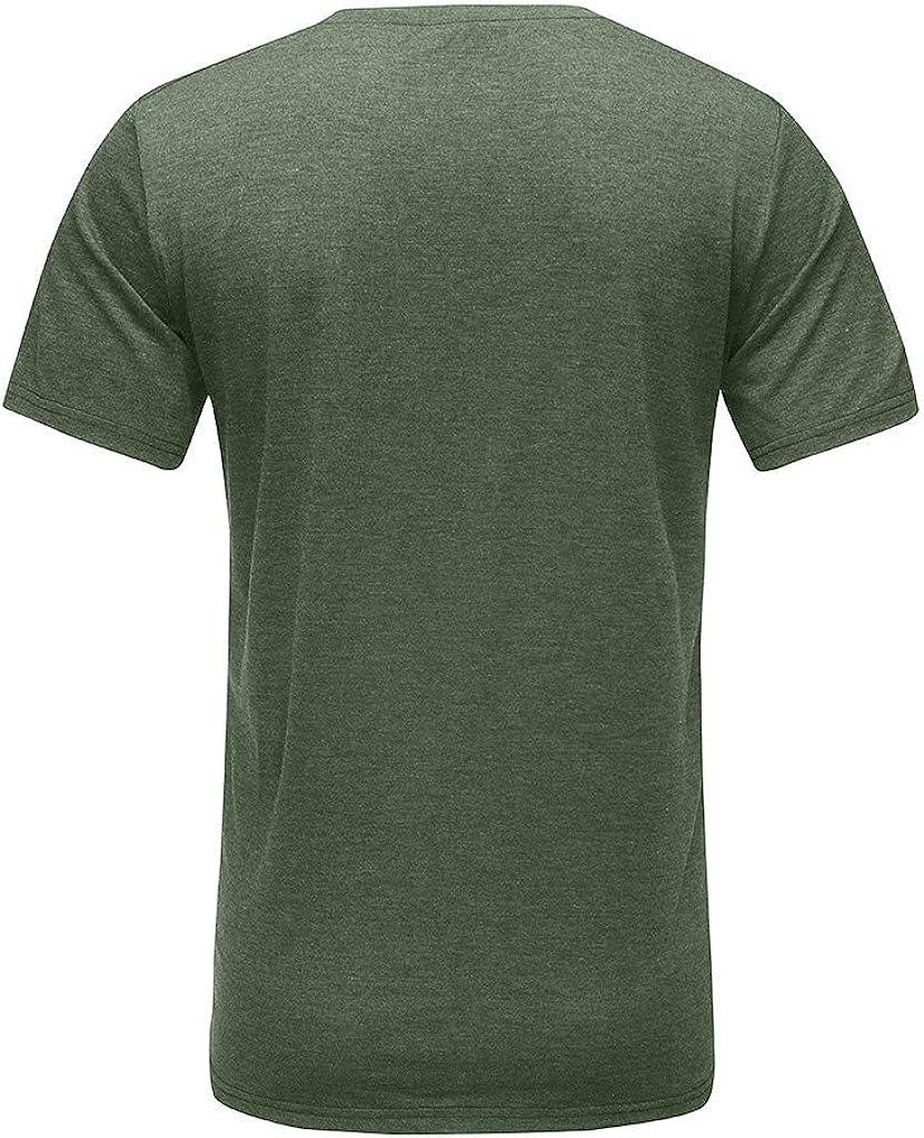 T Shirt Manche Courte Sport Musculation Hommes /Ét/é Tattoo Mode Coton Col en V Grande Taile D/écontract/ée Svelte Top Blouse Pas Cher Swag