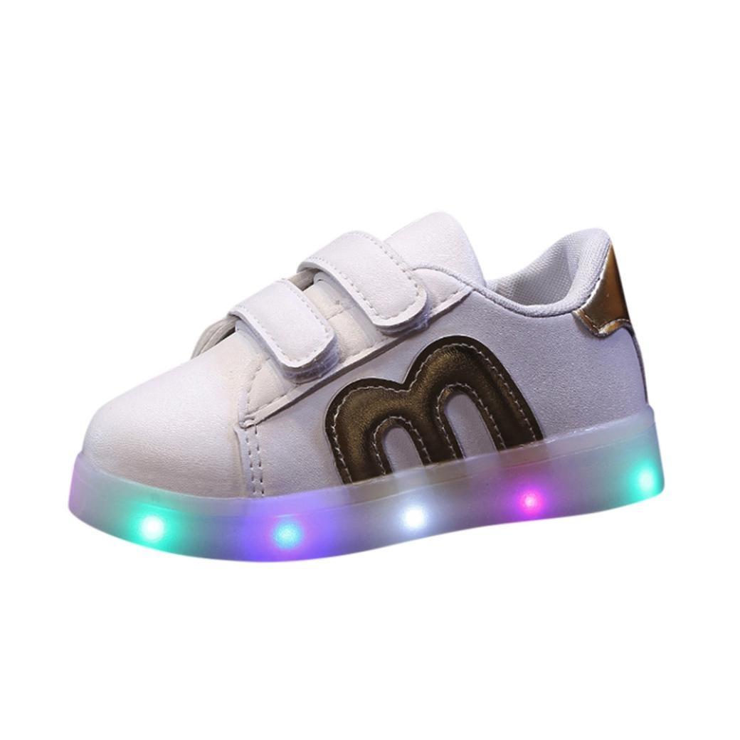 264c4da8152b0 Amazon.com: FEITONG Toddler Kids Skate Shoes Children Baby Shoes LED ...