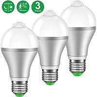 3-Pack MINGER Motion Sensor Light Bulb 9W Smart PIR 800lumen LED Bulbs