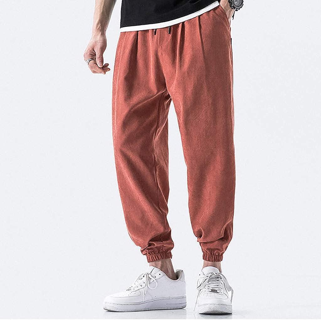 Vickyleb Sweatpants for Men,Mens Fashion Joggers Sports Pants Cotton Cargo Pants Sweatpants Trousers Mens Long Pants