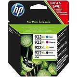 HP original - HP - Hewlett Packard OfficeJet 7510 WF (932XL933XL / C 2 P 42 AE) - Tintenpatrone MultiPack (schwarz, cyan, magenta, gelb)
