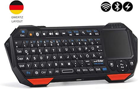 Seenda - Mini Teclado inalámbrico Bluetooth con ratón Touchpad ...