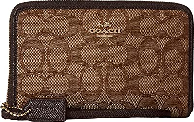 COACH Womens Box Program Signature Zip Organizer