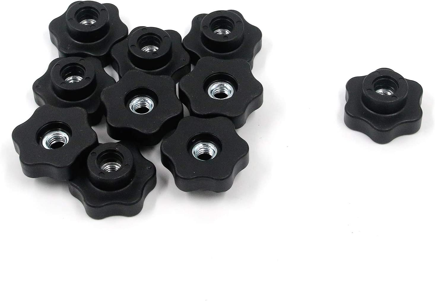 Details about  /10-20pcs Star Hand Male Thread Knurled Clamping Knobs Grip Thumb Screw M6 M8
