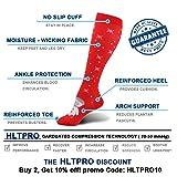 HLTPRO Compression Socks for Women and Men 20-30