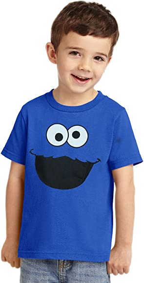 3362c44c7 Amazon.com: Animation Shops Cookie Monster Face Toddler T-Shirt-2T Royal  Blue: Clothing