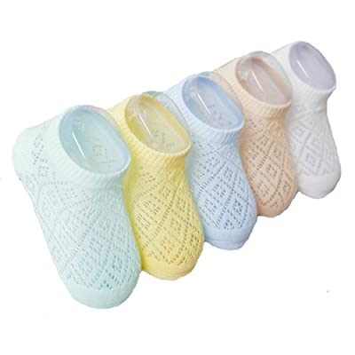 5 Pair unisex-baby sock summer children's breathable thin socks (1-3T)