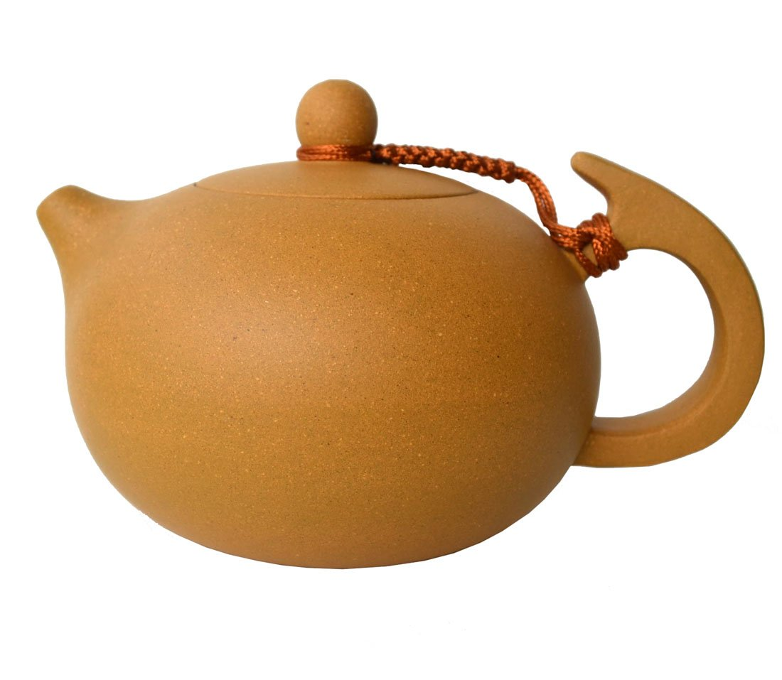 Yixing Chinese Teapot 8oz Xishi Clay Pots Yellow Zisha Loose Tea(huangduan)