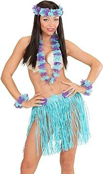 NET TOYS Disfraz Hawaiano de Mujer Aloha Hawai Collar de Flor de ...
