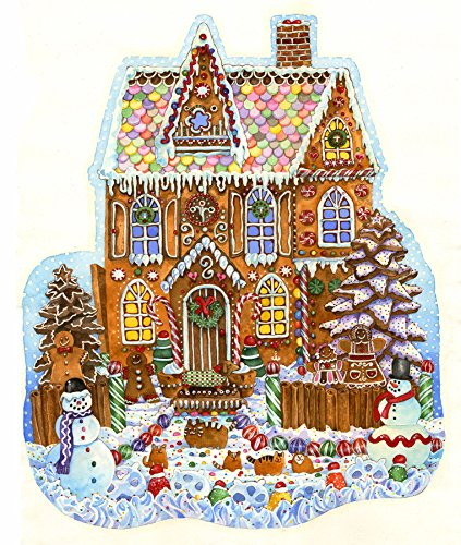 House 1000 Piece Puzzle (Gingerbread House Shaped 1000 Piece Jigsaw Puzzle by SunsOut)