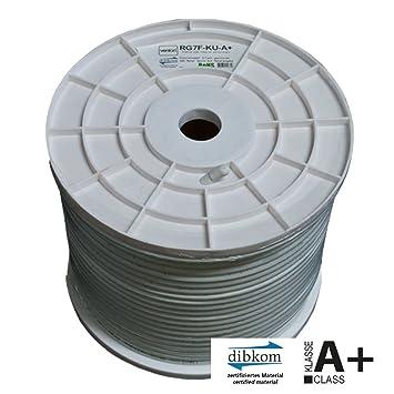 Venton Cable Coaxial 100m RG7F-KU 5-Vías Blindado Conductor Interior Cobre 130dB