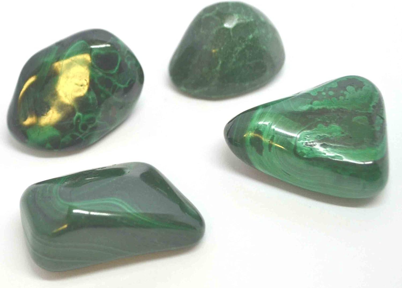 Tumbled malaquita Piedra secadora–Una calidad Crystal–Una Piedra Protectora muy potente, buena para llevar en avión/Vuelo.