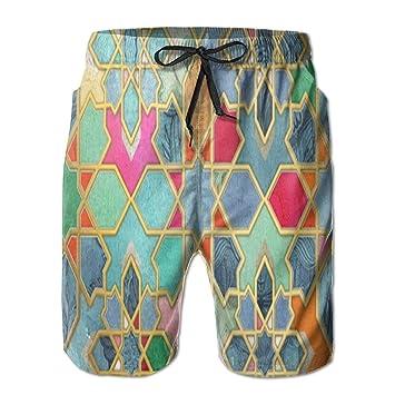HEAGRWGRE Glory Pantalones de Playa clásicos para Hombres ...