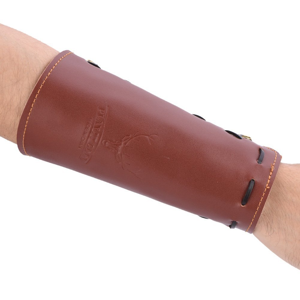 Archery Arm Protector Shooting Arrow Leather Arm Guard Protection Safe Strap Armband by Vbestlife (Image #4)