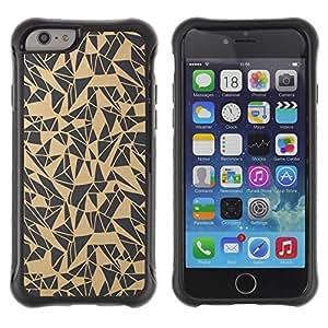 "Pulsar iFace Series Tpu silicona Carcasa Funda Case para Apple (4.7 inches!!!) iPhone 6 , Patrón del arte abstracto Beige Gris"""