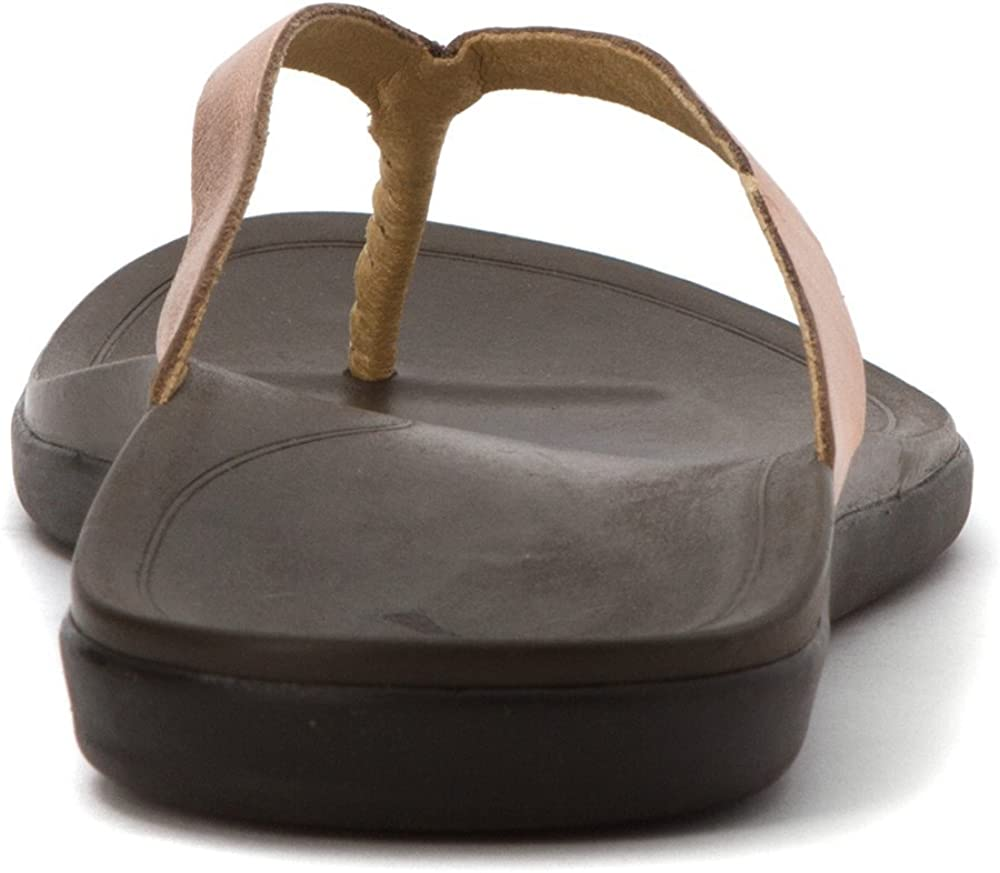 Olukai Woman Sandal Hoopio Copper/Jave Brown Cuivre Foncé Java