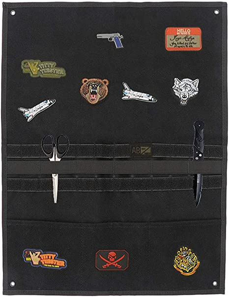 Tactical Military Patch Holder Organizer Badge Display Board Wall Hanging Panel