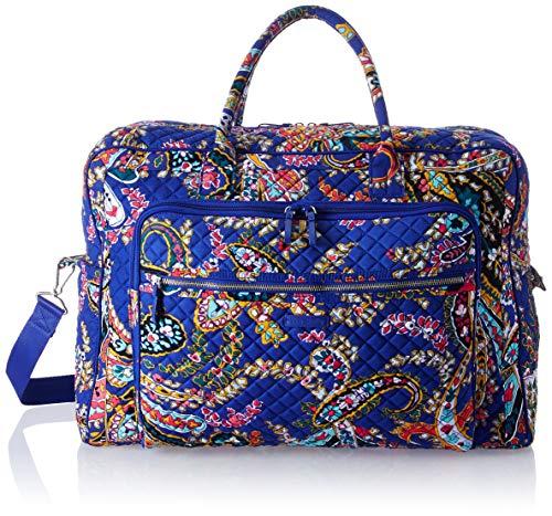 Paisley Grand - Vera Bradley Iconic Grand Weekender Travel Bag, Signature Cotton, Romantic Paisley