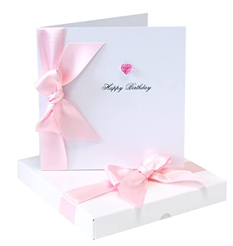 Personalised Birthday Card Luxury Birthday Card Swarovski Crystal