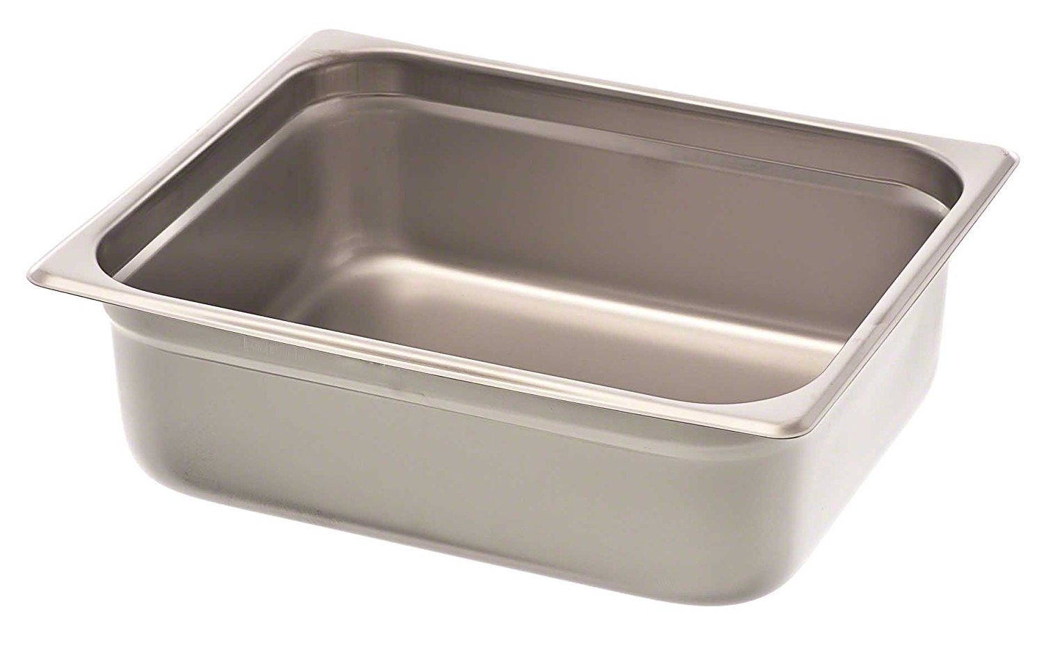 Browne Foodservice 88124 Silver 4-Inch Half-Size Steam Table Pan