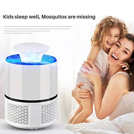 Safe Electric Mosquito Killer Lamp Indoor Fly Bug Insect Zapper Trap LED Light