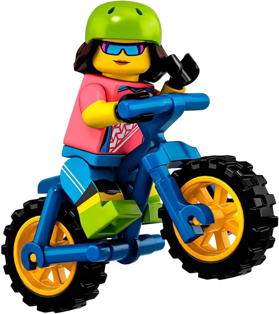 Lego Green Minifigure Bicycle Riding Brand New