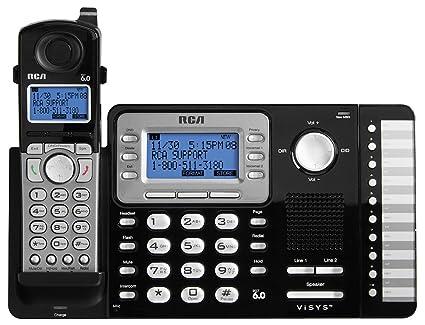 1f9794ec2f4 Amazon.com   RCA ViSYS RCA-25212 Dect 6.0 1-Handset 2-Line Landline ...