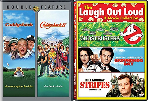 Stripes Bill Murray + Caddyshack 1 & 2 Comedy Feature Groundhog Day / Ghostbusters triple films (Hog Academy)