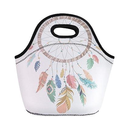 d7762b8a3de5 Amazon.com: Semtomn Lunch Tote Bag Colorful American Dream Catcher ...