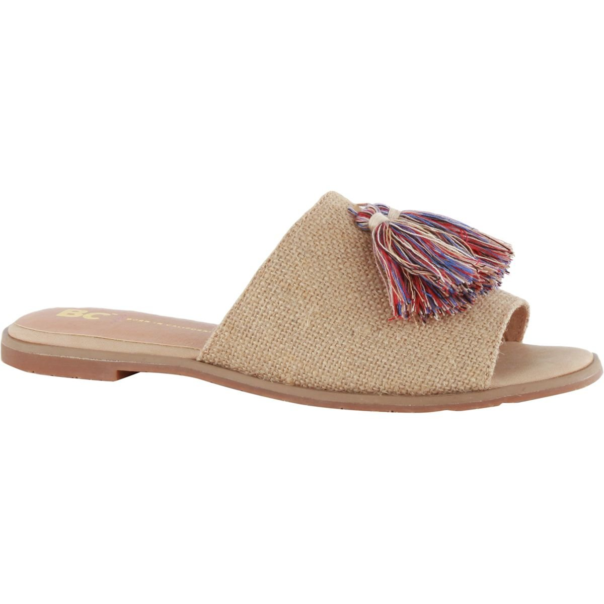 BC Footwear Women's Doin Fine Slide Sandal, Natural Burlap, 8 M US