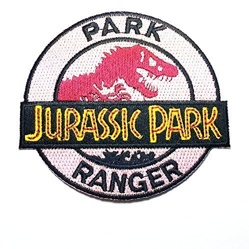 Jurassic Park Ranger Logo Embroidered Clothing Patch Size: 3