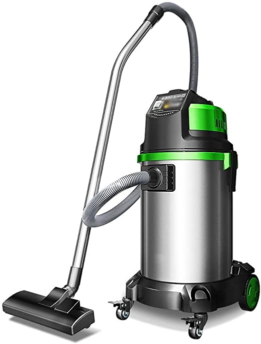 Aspirador sin cable Aspiradora - acero inoxidable de alta potencia del limpiador de alfombras de vacío húmedo y seco for la oficina comercial del hotel, 40x85cm más limpio vaccumm inalámbrico de gran:
