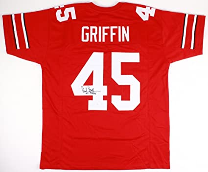 "ab50d54d0d2 Archie Griffin #45 Signed Ohio State Buckeyes Jersey Inscribed""H.T.  1974/75"""