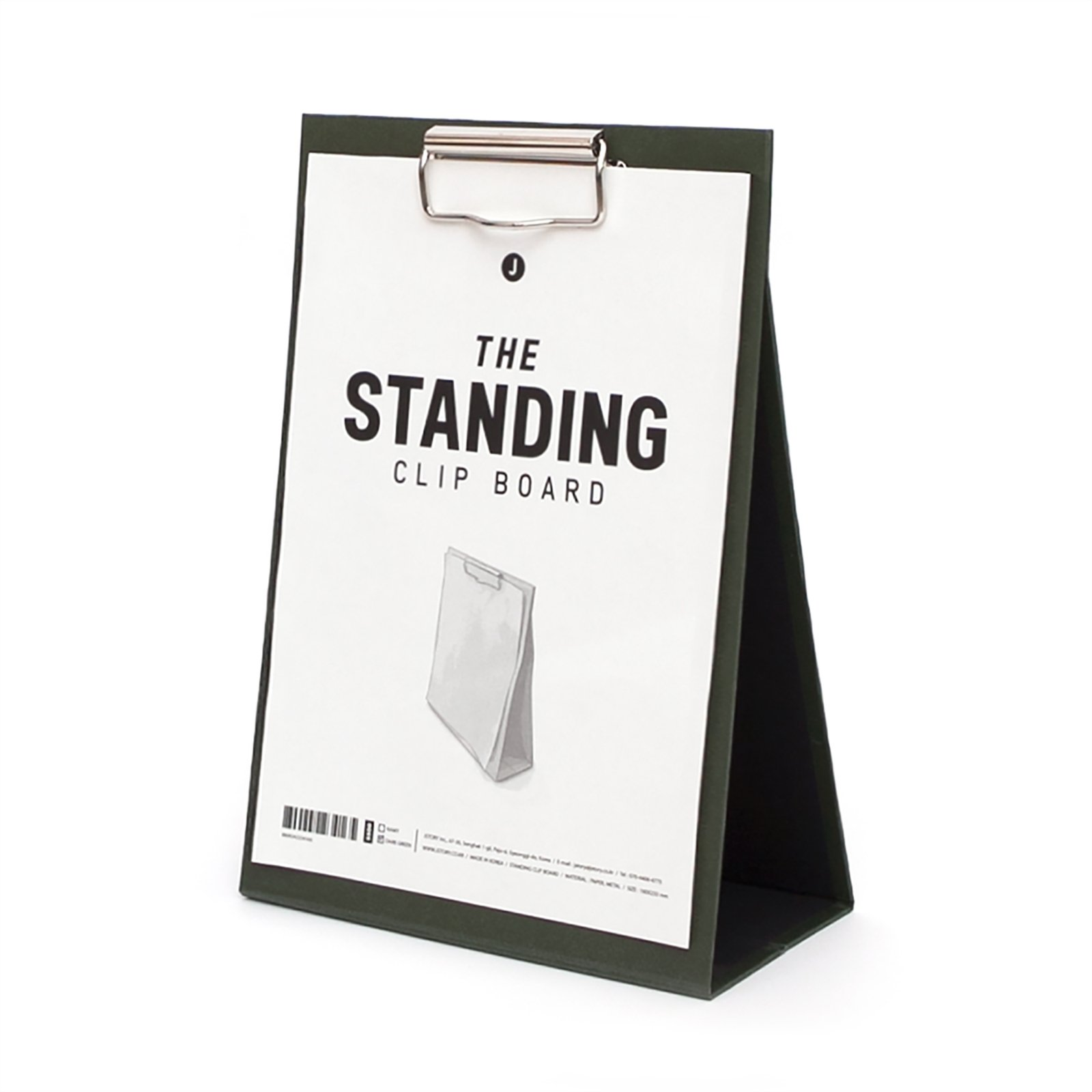 JSTORY Medium Standing Clip Board Medium Dark Green