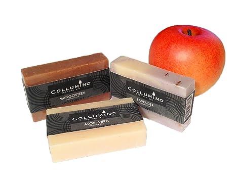 Selection Collumino - Juego de jabones perfumados (75 g, con aceites esenciales)