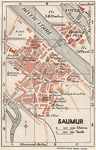 Amazoncom SAUMUR Vintage Town City Map Plan MaineetLoire - Antique map of maine