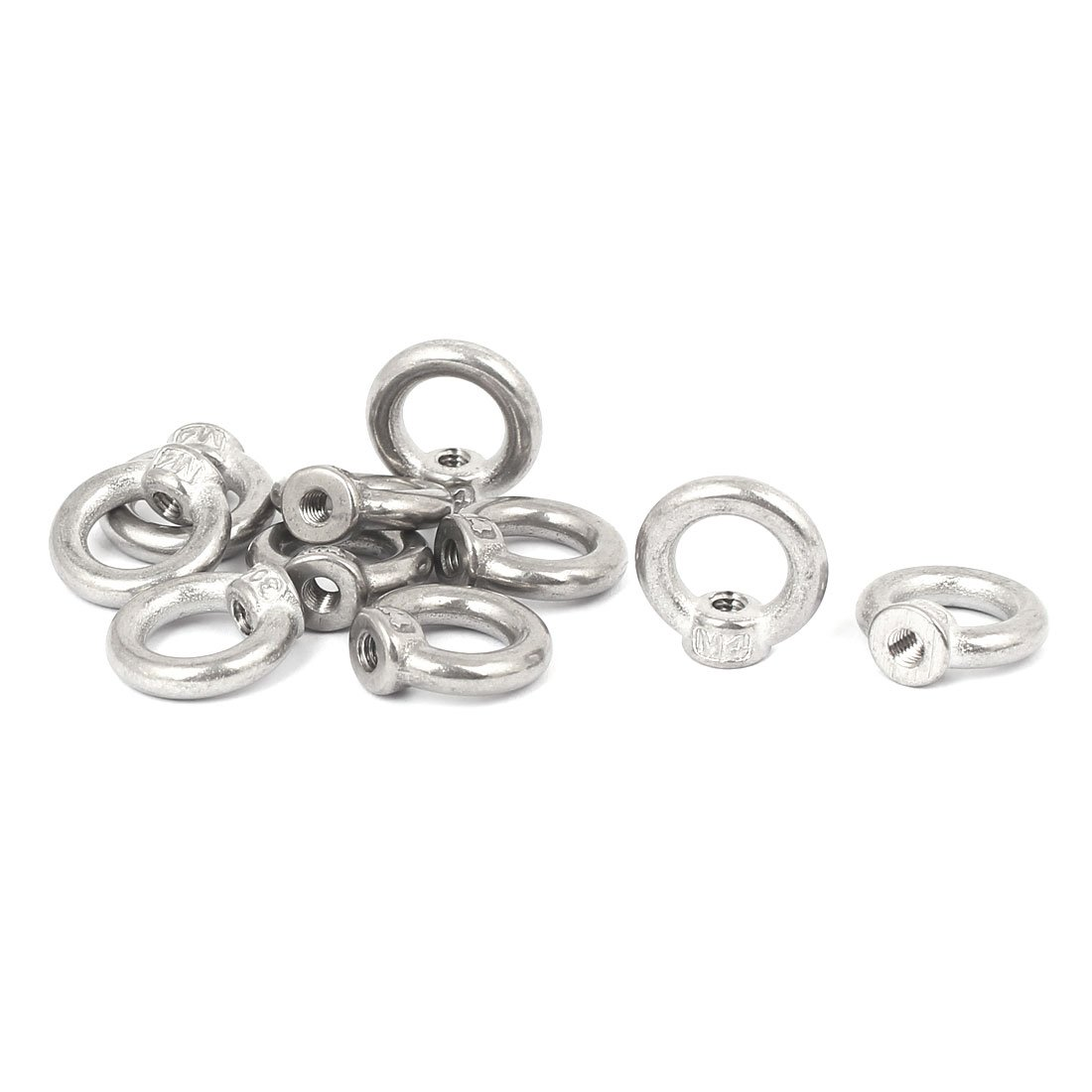 uxcell a16080200ux0209 M4 Thread Dia 304 Stainless Steel Ring Shape Lifting Eye Nut Fastener Pack of 10 61QuMtMOvtL