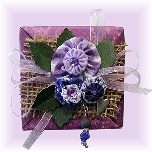 Mini Scrapbook in a Purple Paper Tea Box