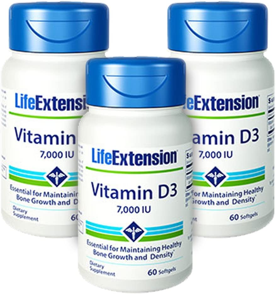 Life Extension Directly managed store Vitamin D3 7000 3-Pak Softgels IU 60 Oklahoma City Mall -