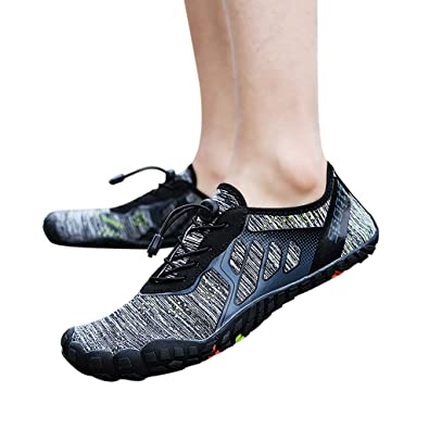 f76a2bcfc7e0f6 Amazon.com | FarJing Water Shoes for Womens Mens, Unisex Quick-Dry Water  Shoes Pool Beach Swim Surf Drawstring Creek Diving Shoes | Water Shoes