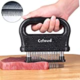 Ccfoud Meat Tenderizer, 48 Stainless Steel Ultra Sharp Needle Blade Tenderizer for Tenderizing Steak, Beef with Cleaning Brush,Durable Baking Kitchen Accessories