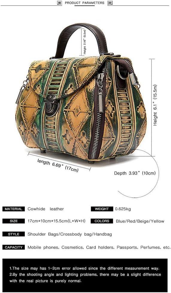 TCpick Borsa delle Donne Retro in Pelle, Borsa Nazionale del Vento delle Donne di Spalla, Sacchetto di Modo Lo Shopping A