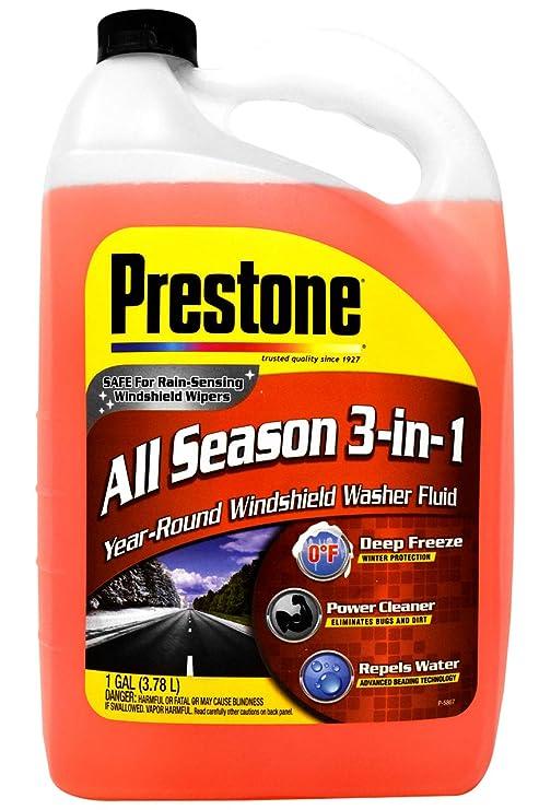 Amazon.com: Prestone - Líquido para limpiaparabrisas 3 en 1 ...